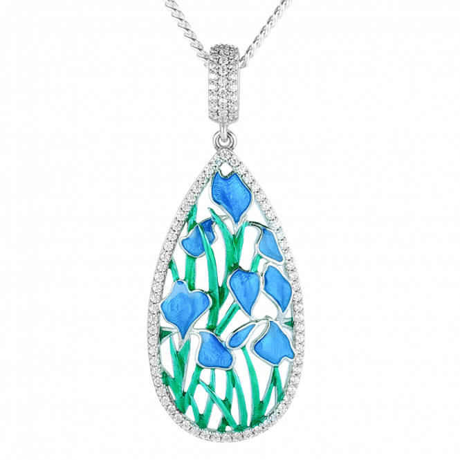 Arts & Crafts Inspired Iris Pendant