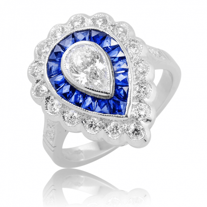 The 2020 Ring ? 18ct White Gold with 2½cts of Diamonds & Sapphires