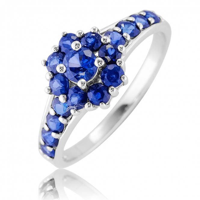 Original Jasper May Design Sapphire Cluster Ring