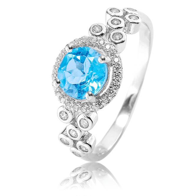 The Portofino Ring with over ½ct of Blue & White Topaz