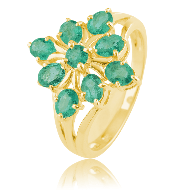 Over 2cts of Emeralds Set in 9cts Gold
