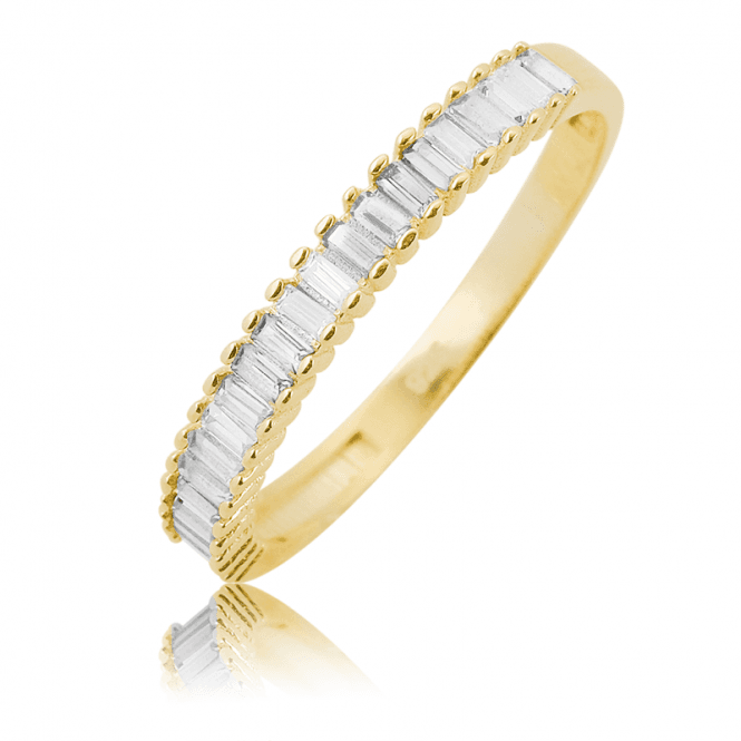 Spectacular Solid Gold Half Eternity Ring