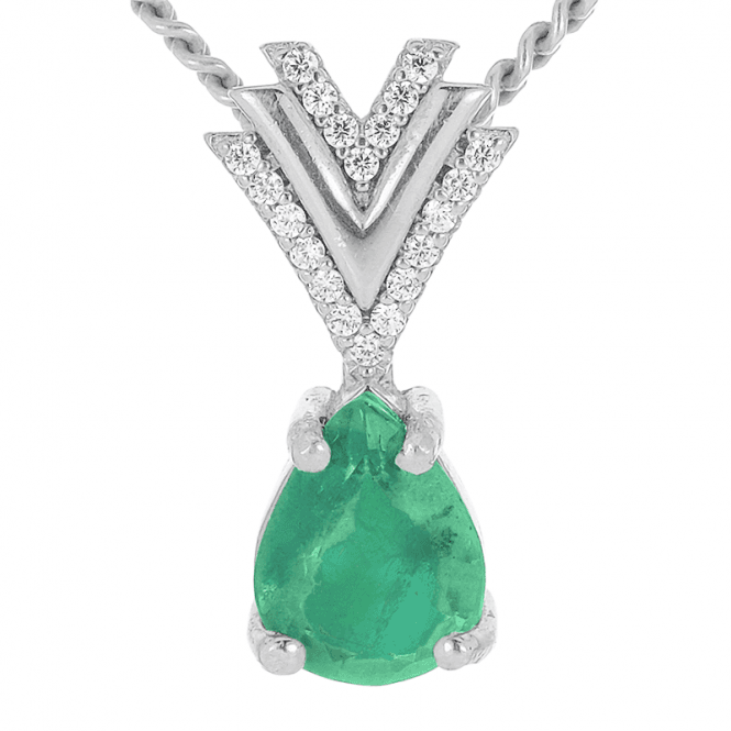 Art Deco Pineapple with 1¾cts of Emerald