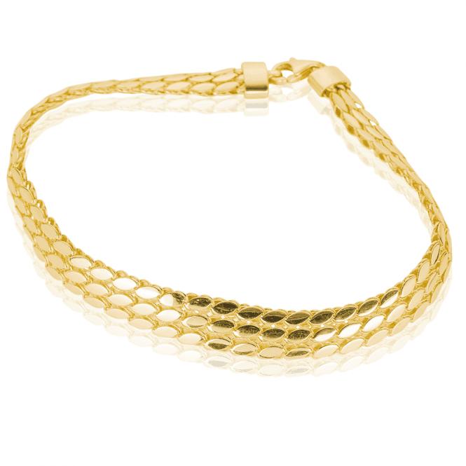 Premium Bracelet Layers Solid 9ct Gold Like Silk
