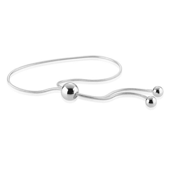 Easy-fitting Silver Lariat Bracelet