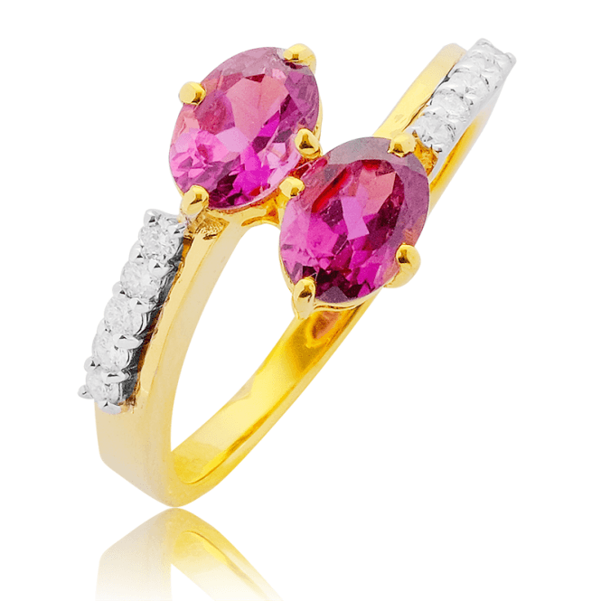 Nearly 2cts of Rare African Rubellite & Diamonds