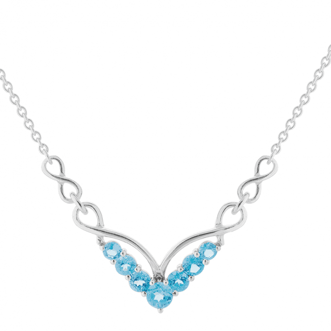 Love Story Necklet with 2.15cts of Blue Topaz