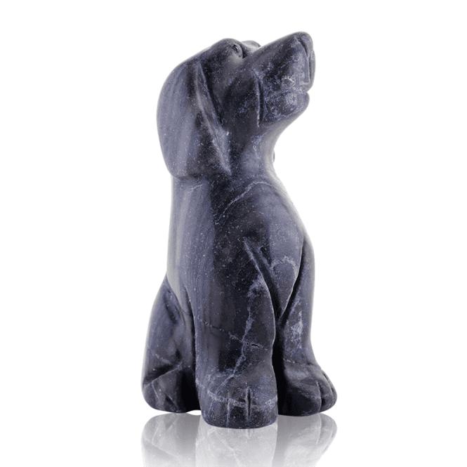 Companion Dog in Black Vein Agate