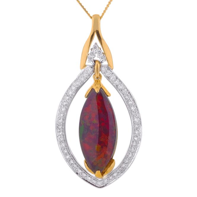 Jasper May?s Diamond Design for 3.61cts of Black Opal