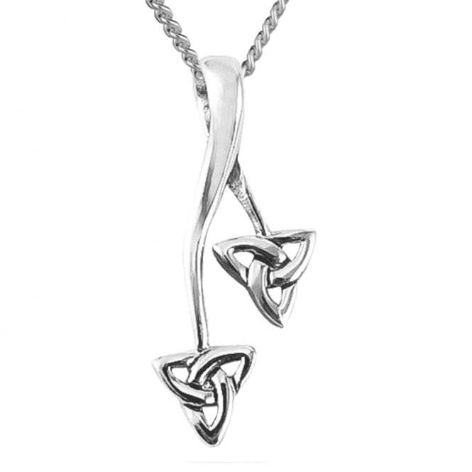 Celtic Triquetra on a Looped Silver Pendant