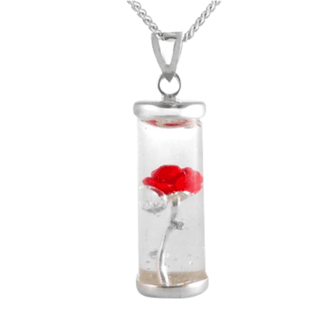 Forever Rose in a Glass Pendant