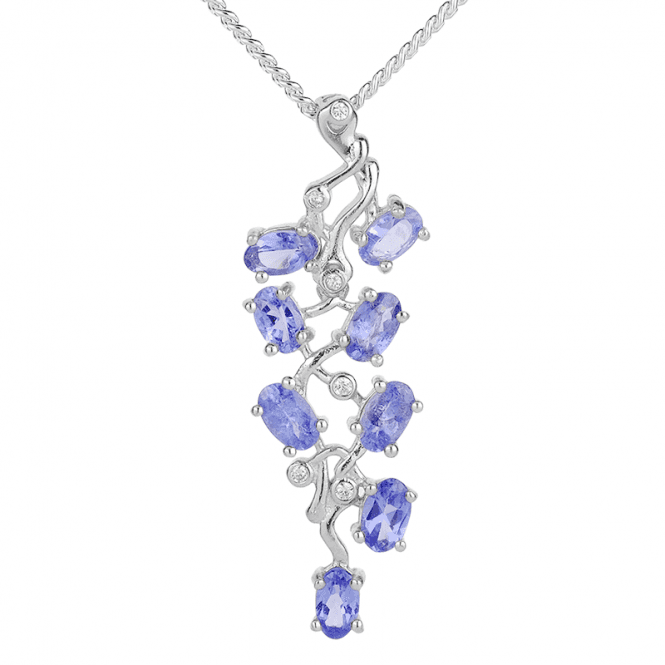Forget-Me-Not Pendant of Tanzanite