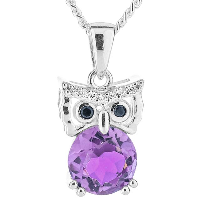 Amethyst Owl Pendant To Woo You