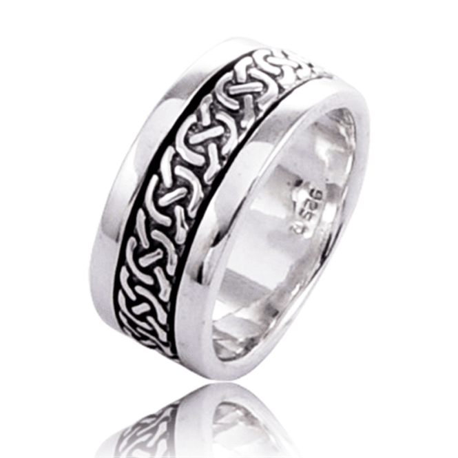 Silver Celtic Spinner Ring Keeps Love Close