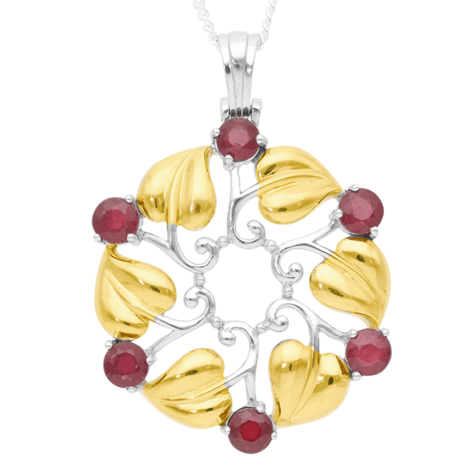 4.8ct Ruby Art Nouveau Elegance