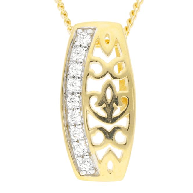 9ct Gold Cutwork Pendant Keeps a Sumptuous Secret