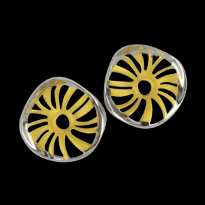 Ladies Shipton and Co Exclusive Silver Solstice Earrings TME005NS