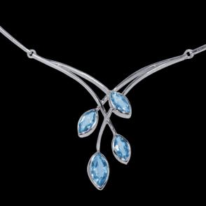 A Cascade of Blue Topaz  & Sterling Silver