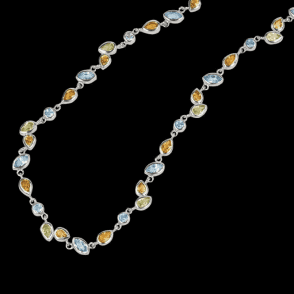 Ladies Shipton and Co Exclusive Silver and Multiple Stone Peridot Necklace NQA210MU7