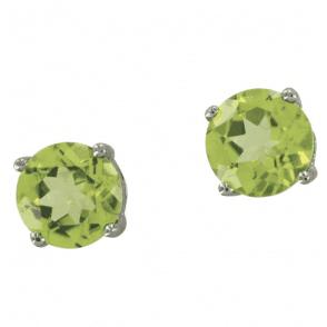Ladies Shipton and Co Silver and Peridot Circles Earrings TSN021PE