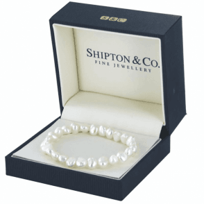 Ladies Shipton and Co Silver Lustrous Baroque Freshwater Pearls Beads BBG001FP