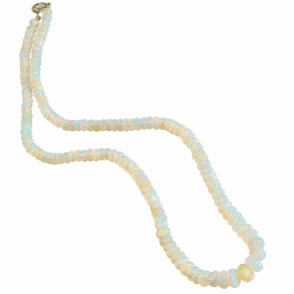 Ladies Shipton and Co Exclusive 9ct Yellow Gold and Opal Bead Necklet BSS044OP
