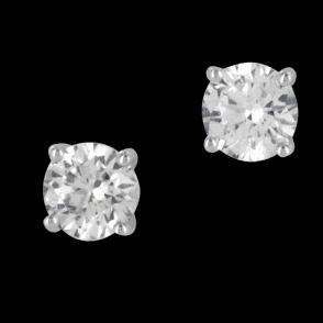 Ladies Shipton and Co 9ct White Gold and Cubic Zirconia Earrings EWG027CZ1