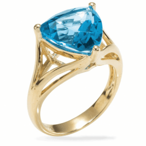 Ladies Shipton and Co Exclusive 9ct Yellow Gold and Blue Topaz Ring RYG044BT