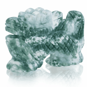 Ladies Shipton and Co Two Inch Green Jade Dragon Carving CWT003GJ