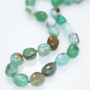 Ladies Shipton and Co Silver and Chrysoprase Beads BKC022CY