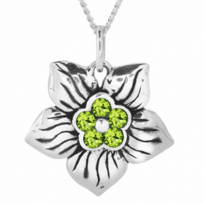 Ladies Shipton and Co Silver and Peridot Pendant including a 16 Silver Chain TPX026PE