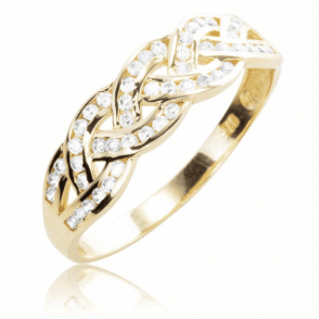 Ladies Shipton and Co 9ct Yellow Gold and Cubic Zirconia Ring TAR583CZ