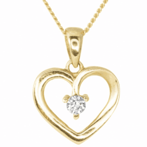 Radiant Heart in 9ct Gold