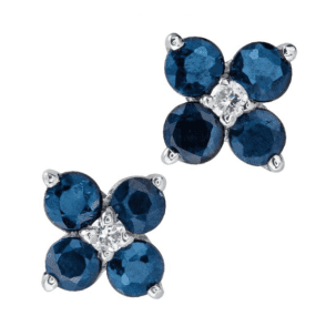 Ladies Shipton and Co Silver and 2.75ct Blue Flower Sapphire Earrings TMZ005BSWS