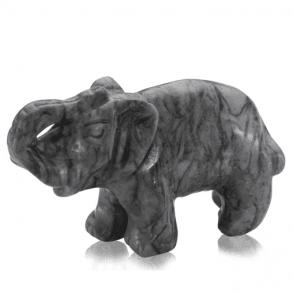 Ladies Shipton and Co Jasper Elephant Carving CWT018PJ