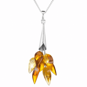 Ladies Shipton and Co Silver and Amber Pendant including a 16 Silver Chain TFE210AB