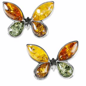 Ladies Shipton and Co Silver and Amber Earrings TFE211AB