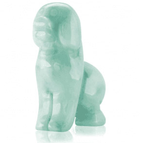 Ladies Shipton and Co Green Jade Dog Carving CVL007GJ