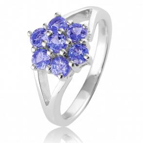 3/4ct Tanzanite Flower Ring Only £45