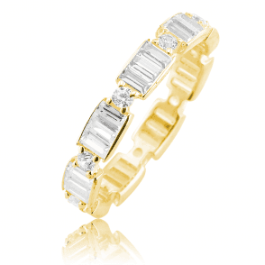 Scintillating Baguette Ring